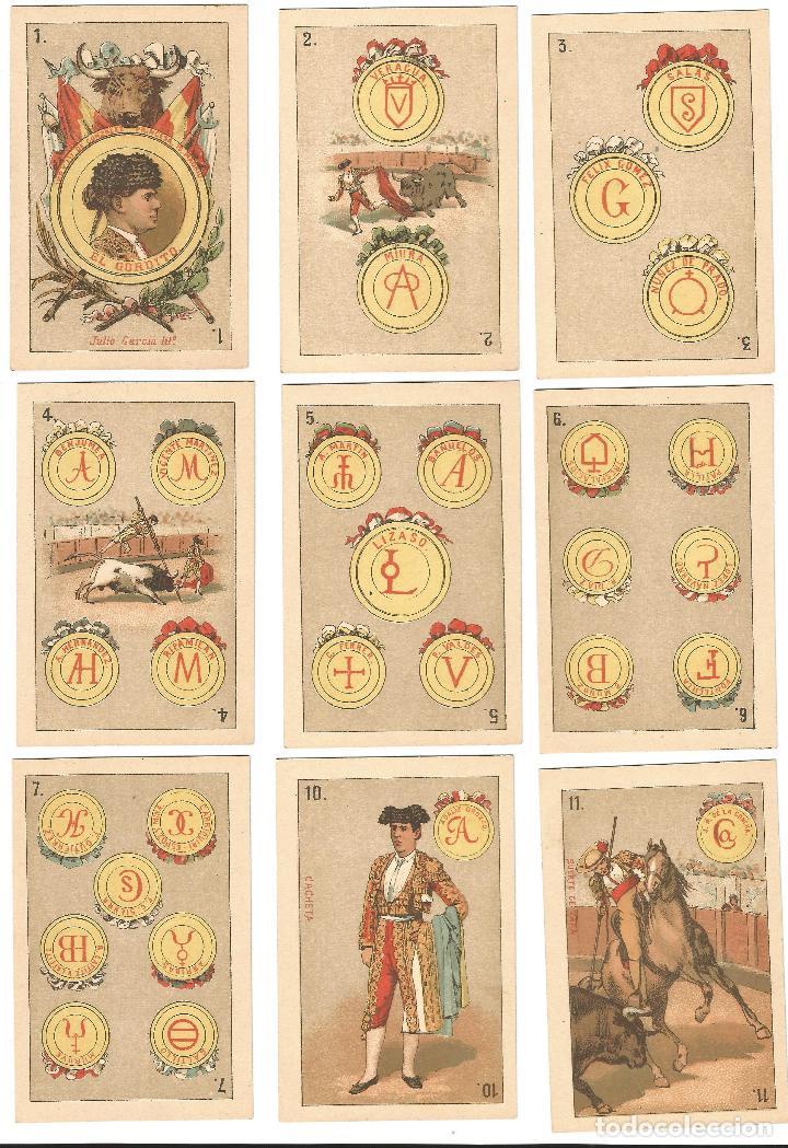 Barajas de cartas: BARAJA TAURINA- SIGLO XIX - Foto 2 - 136400902