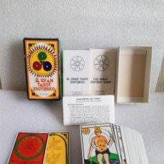 Barajas de cartas: BARAJA CARTAS EL GRAN TAROT ESOTERICO - FOURNIER 1976 LUIS PEÑA LONGA COMPLETO. Lote 136488570