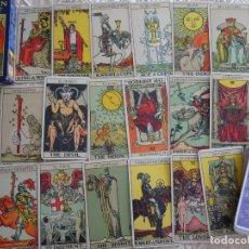 Barajas de cartas: BARAJA DE TAROT. EL GRAN TAROT DE PAMELA COLMAN Y ARTHUR WAITE. 230 GR. Lote 136953074