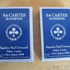 Barajas de cartas: BAPTISTE PAUL GRIMAUD - 54 CARTAS DOS BARAJAS BRIDGE -ROMME Y CANASTA . Lote 137101258