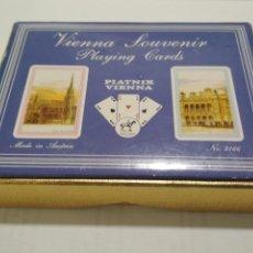 Barajas de cartas: CAJA DOBLE BARAJA DE CARTAS SOUVENIR VIENNA, Nº 2166. Lote 137137790