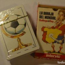Baralhos de cartas: LA BARAJA DEL MUNDIAL. GALLEGO & REY. INTERVIÚ. CARTAS. MUNDIAL DE FUTBOL 2006.GRUPO Z. PRECINTADA.. Lote 137463762