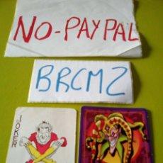 Barajas de cartas: LOTE 2 CARTAS NAIPES JOKER RAROS DE VER. Lote 137481848