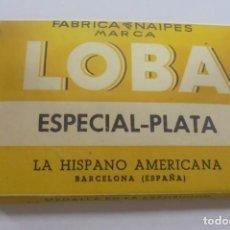 Barajas de cartas: BARAJA DE CARTAS. MARCA LA LOBA. ESPECIAL-PLATA. LA HISPANO AMERICANA. PAPEL ENVUELTO ORIGINAL. VER. Lote 137510914