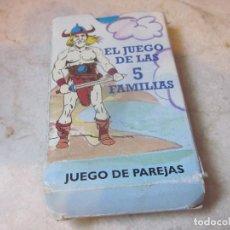 Jeux de cartes: EL JUEGO DE LAS CINCO FAMILIAS. Lote 137580182