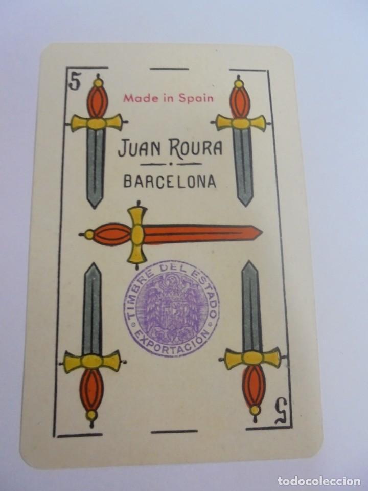 Barajas de cartas: BARAJA DE CARTAS. JUAN ROURA. BARCELONA. LA LOBA. NAIPES FINOS. BARAJA ESPAÑOLA. VER - Foto 6 - 137582842