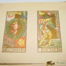 Barajas de cartas: OSWALD WIRTH - TAROT DES IMAGIERS DU MOYEN ÂGE EN 1926, PLANCHES, PRIMERA EDICION, ED. LE SYMBOLISME. Lote 137683554