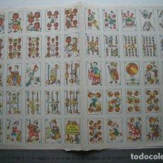 Barajas de cartas: JUEGO COMPLETO DE BARAJA INFANTIL JUEGO DE NAIPES CÓMICOS. Lote 137807486