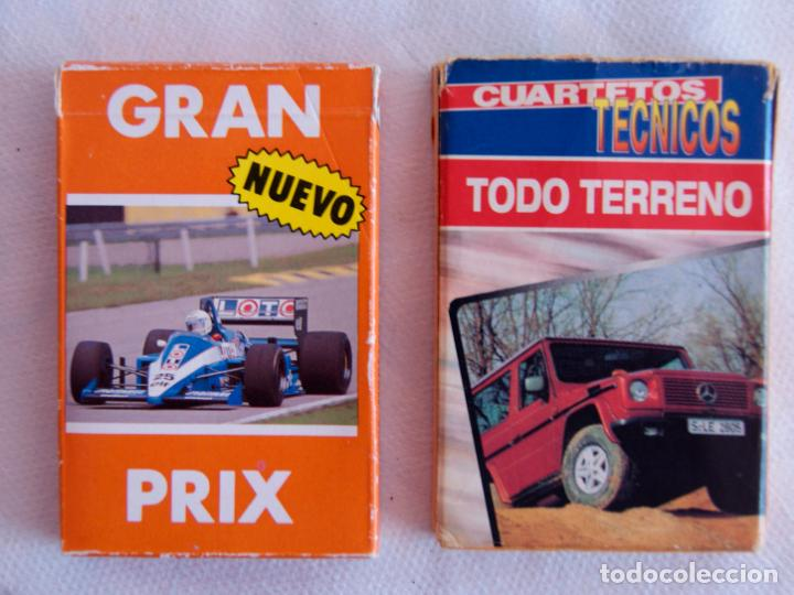 LOTE DE 2 BARAJAS DIFERENTES TODO TERRENOS Y GRAN PRIX FOURNIER (Juguetes y Juegos - Cartas y Naipes - Otras Barajas)