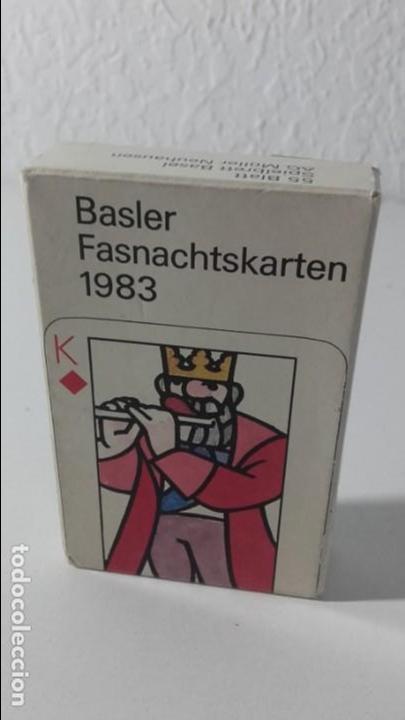 BARAJA POKER ALEMANA BASLER FASNACHTSKARTEN DE 1983. ILUSTRADA POR PRACK Y BEURET. COMPLETA. (Juguetes y Juegos - Cartas y Naipes - Otras Barajas)