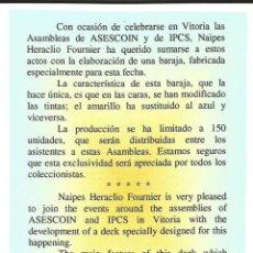 Barajas de cartas: RARISIMA BARAJA HERACLIO FOURNIER. Lote 138127282