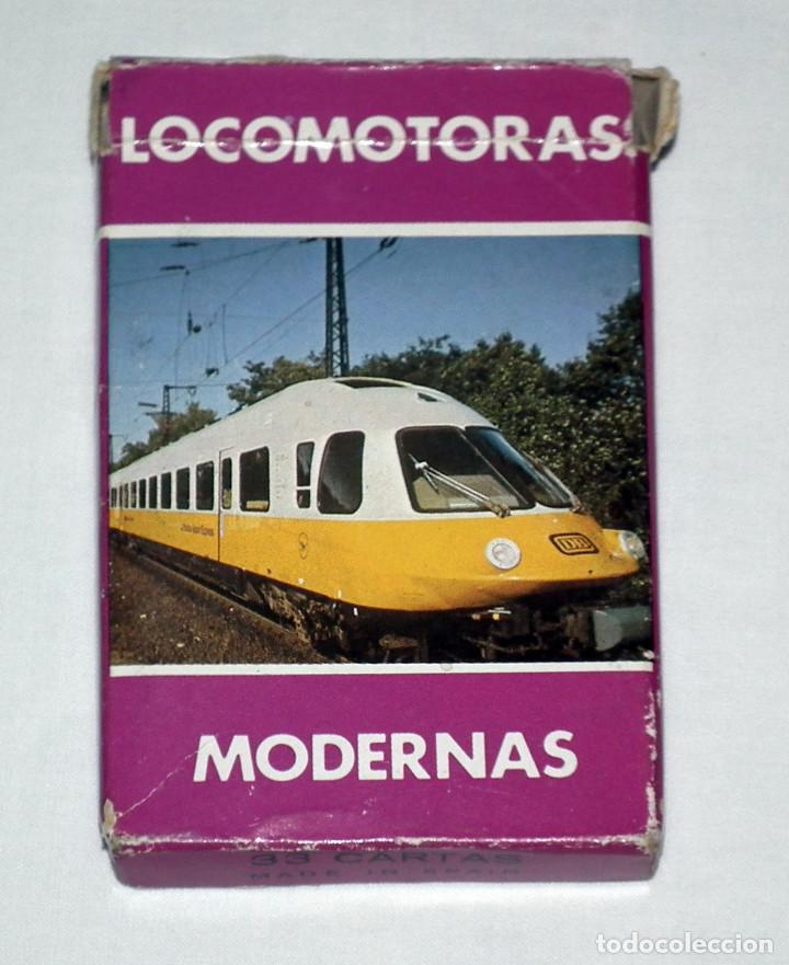 BARAJA DE CARTAS FOURNIER - LOCOMOTORAS MODERNAS (AÑOS 80) (Juguetes y Juegos - Cartas y Naipes - Otras Barajas)