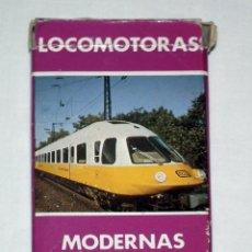 Barajas de cartas: BARAJA DE CARTAS FOURNIER - LOCOMOTORAS MODERNAS (AÑOS 80). Lote 138260066
