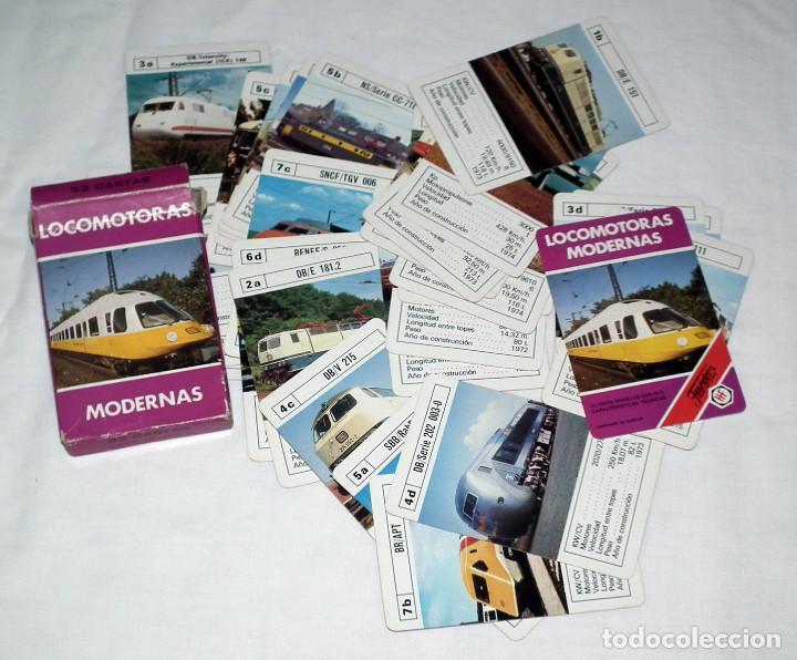 Barajas de cartas: BARAJA DE CARTAS FOURNIER - LOCOMOTORAS MODERNAS (AÑOS 80) - Foto 2 - 138260066