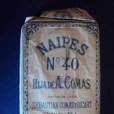 Barajas de cartas: (PA-181101)BARAJA EL CIERVO NÚMERO 40 HIJA ANTONIO COMAS AÑO 1938 - 48 NAIPES. Lote 138665022