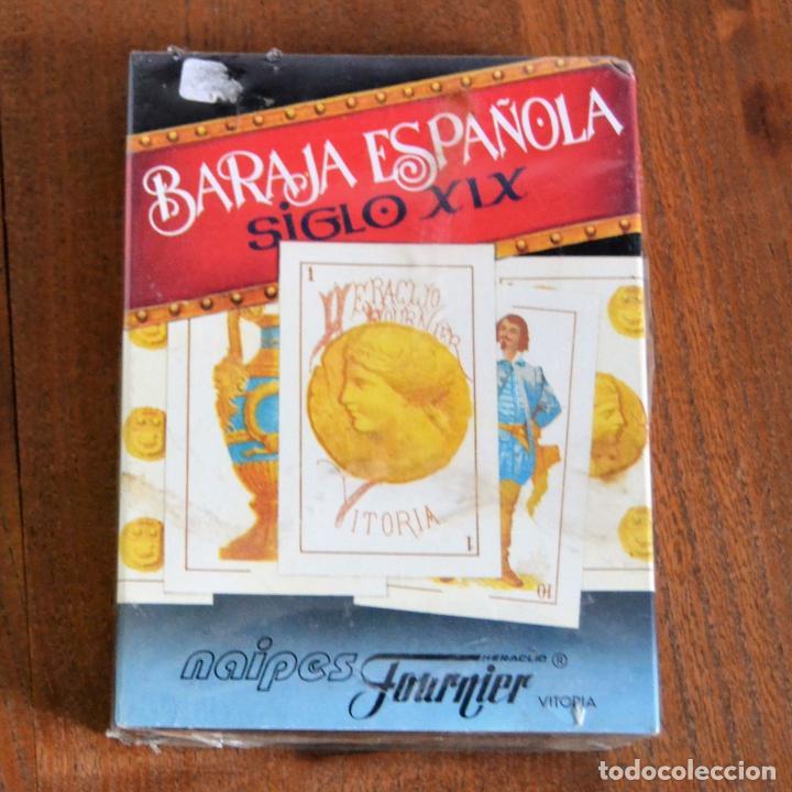 BARAJA ESPAÑOLA PRECINTADA SIGLO XIX * NAIPES FOURNIER * REPRODUCCIÓN DE 1868 (Juguetes y Juegos - Cartas y Naipes - Baraja Española)