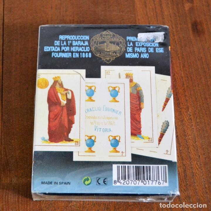 Barajas de cartas: BARAJA ESPAÑOLA PRECINTADA SIGLO XIX * NAIPES FOURNIER * REPRODUCCIÓN DE 1868 - Foto 4 - 138811782
