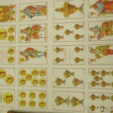 Barajas de cartas: BARAJA ESPAÑOLA DE ANTONIO MOLINER DE BURGOS EN PLIEGO 1920. Lote 138816166