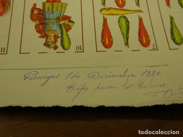 Barajas de cartas: BARAJA ESPAÑOLA DE ANTONIO MOLINER DE BURGOS EN PLIEGO 1920 - Foto 4 - 138816166