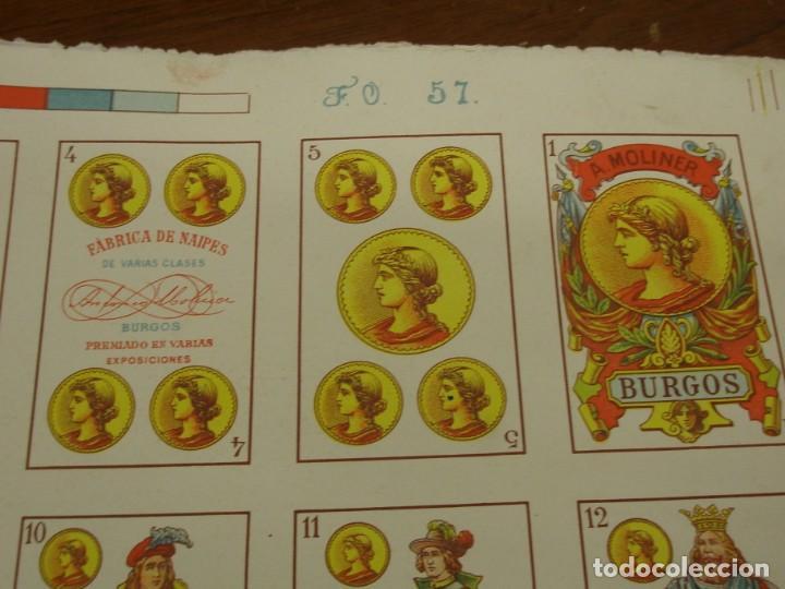 Barajas de cartas: BARAJA ESPAÑOLA DE ANTONIO MOLINER DE BURGOS EN PLIEGO 1920 - Foto 5 - 138816166