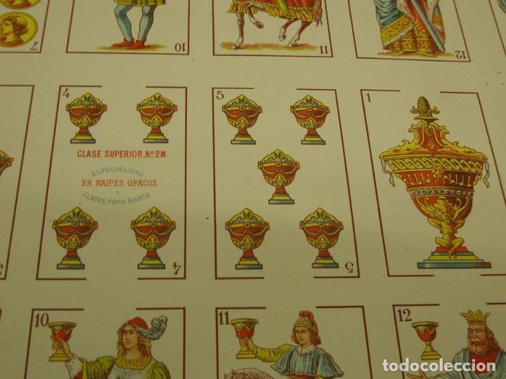 Barajas de cartas: BARAJA ESPAÑOLA DE ANTONIO MOLINER DE BURGOS EN PLIEGO 1920 - Foto 6 - 138816166