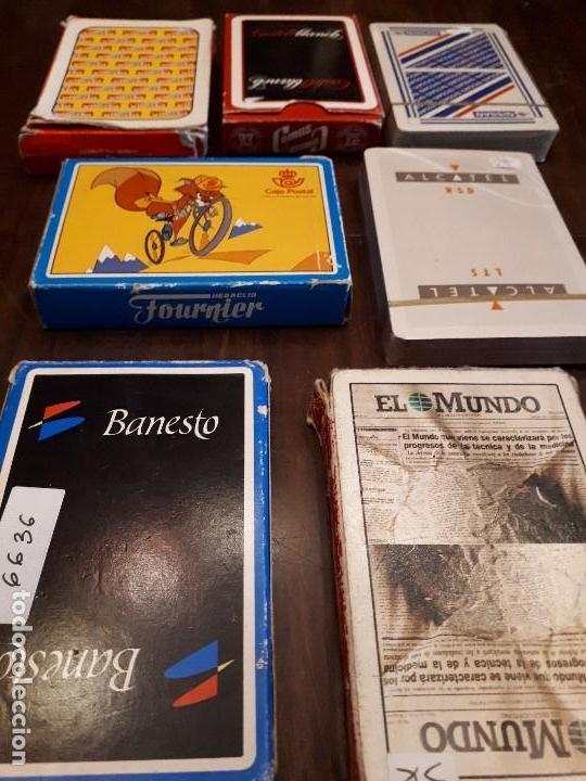 Barajas de cartas: Lote 7 barajas de cartas con publicidad. El Mundo, Nissan, Alcatel, Caja Postal, Vileda, Banesto... - Foto 2 - 138876590