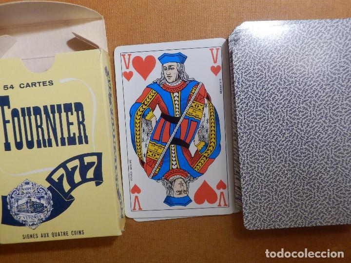 Barajas de cartas: Baraja de 54 Cartas - Naipes H. Fournier - 777 - Nueva sin uso - SIGNES AUX QUATRE COINS - Foto 3 - 147414234