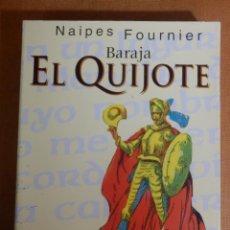 Barajas de cartas: BARAJA ESPAÑOLA DE 50 CARTAS - NAIPES H. FOURNIER - EL QUIJOTE - CASINO GRAN MADRID - NUEVA, SIN USO. Lote 138918914