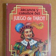 Barajas de cartas: JUEGO DE 26 CARTAS TAROT - NAIPES H. FOURNIER - ARCANOS Y CABALLOS DEL JUEGO DEL TAROT -. Lote 138919130