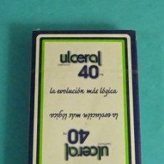 Barajas de cartas: BARAJA NAIPE ESPAÑOL HERACLIO FOURNIER. PUBLICIDAD ULCEROL. SIN USAR. Lote 139616030