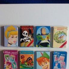 Barajas de cartas: LOTE 10 BARAJAS INFANTILES FOURNIER-DISNEY COMPLETAS. ALGUNA BARAJA NUEVA.. Lote 139836154