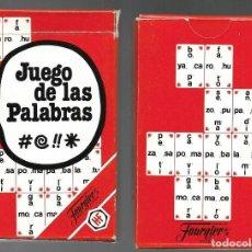 Barajas de cartas: BARAJA JUEGO DE LAS PALABRAS DE FOURNIER, 44 CARTAS + HOJA EXPLICATIVA. SIN ESTRENAR.. Lote 140205334