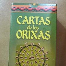 Barajas de cartas: MAZO 22 CARTAS BARAJA DE LOS ORIXAS ILUMINARTE ARGENTINA MANUAL Y PAÑO. Lote 143043866