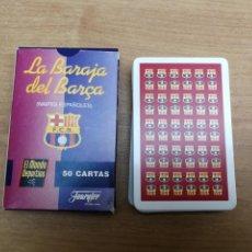 Barajas de cartas: BARAJA CARTAS FOURNIER F.C FÚTBOL CLUB BARCELONA MUNDO DEPORTIVO COMPLETA SIN USAR. Lote 140452978