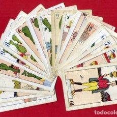 Barajas de cartas: BARAJA ESPAÑOLA ,LOTE DE 18 NAIPES , CON RELATOS EN EL REVERSO , ORIGINAL , C. Lote 140526706