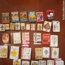 Barajas de cartas: COLECCION DE 34 BARAJAS COMPLETAS MAS 7 QUE LE FALTAN ALGUNA CARTA.VARIADAS .VER FOTOS.. Lote 140847214