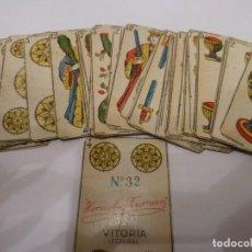 Barajas de cartas: JUEGO DE NAIPES HIJOS DE HERADIO FOURNIER N32. Lote 141175430