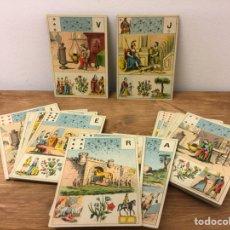 Barajas de cartas: TAROT BARAJA DE CARTAS - MLLE LENORMAND 1890 - 52 CARTAS- 13X9. Lote 145470377