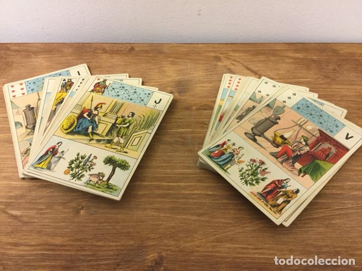 Barajas de cartas: TAROT BARAJA DE CARTAS - MLLE LENORMAND 1890 - 52 CARTAS- 13x9 - Foto 3 - 145470377