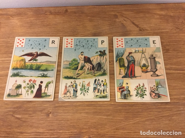 Barajas de cartas: TAROT BARAJA DE CARTAS - MLLE LENORMAND 1890 - 52 CARTAS- 13x9 - Foto 6 - 145470377