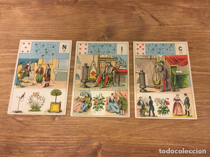Barajas de cartas: TAROT BARAJA DE CARTAS - MLLE LENORMAND 1890 - 52 CARTAS- 13x9 - Foto 7 - 145470377
