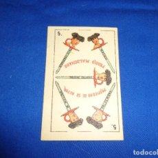 Barajas de cartas: PEDRO MALDONADO - NAIPE ANTIGUO DE LA BARAJA PEDRO MALDONADO EN CARTON! SM. Lote 141581326