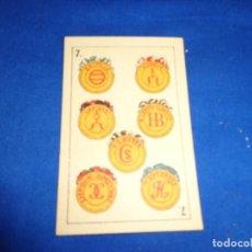 Barajas de cartas: PEDRO MALDONADO - NAIPE ANTIGUO DE LA BARAJA PEDRO MALDONADO EN CARTON! SM. Lote 141583846