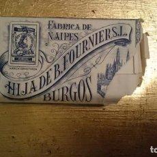 Barajas de cartas: FÁBRICA DE NAIPES, HIJA DE FOURNIER S.L BURGOS Nº14. Lote 141589778
