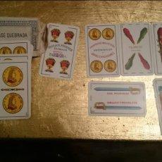 Barajas de cartas: HIJA DE BRAULIO FOURNIER BURGOS. CLASE QUEBRADA, IMPORTADO POR JULIO LAJE, BUENOS AIRES. 40 CARTAS.. Lote 141590034