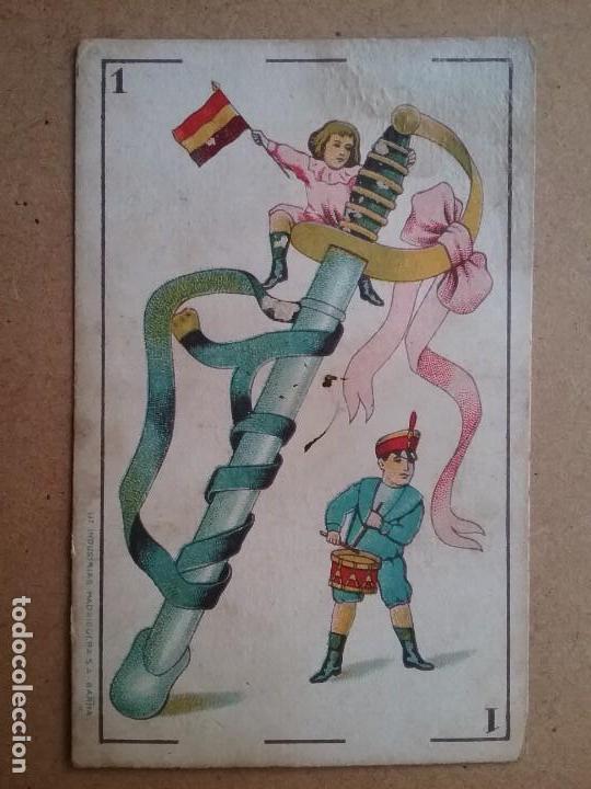 Barajas de cartas: BARAJA INFANTIL NAIPES REVERSO FUTBOLISTAS SAMITIER ZAMORA QUINCOCES FÚTBOL ÉPOCA REPÚBLICA - Foto 2 - 141926606