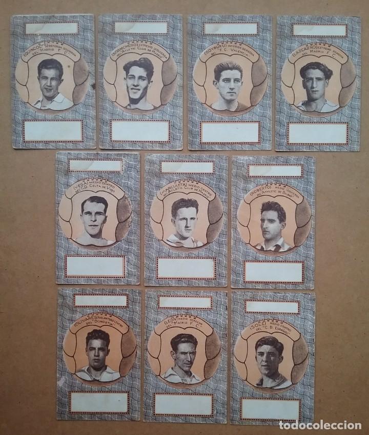 Barajas de cartas: BARAJA INFANTIL NAIPES REVERSO FUTBOLISTAS SAMITIER ZAMORA QUINCOCES FÚTBOL ÉPOCA REPÚBLICA - Foto 8 - 141926606