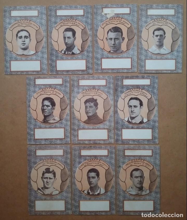 Barajas de cartas: BARAJA INFANTIL NAIPES REVERSO FUTBOLISTAS SAMITIER ZAMORA QUINCOCES FÚTBOL ÉPOCA REPÚBLICA - Foto 13 - 141926606