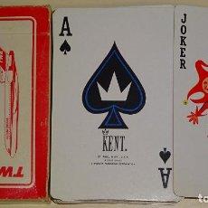 Barajas de cartas: BARAJA DE CARTAS DE PÓKER DE AVIONES AEROLÍNEAS. KENT. TWA BOEING 727. 90 GR. Lote 141967978