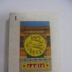 Barajas de cartas: BARAJA DE CARTAS. CADIZ. CANTANDO LAS 40. LA BARAJA DEL CARNAVAL DE CADIZ. Lote 142039602